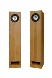 Natural Oak Silver Speakers