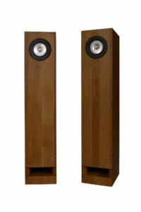 Walnut silver speakers